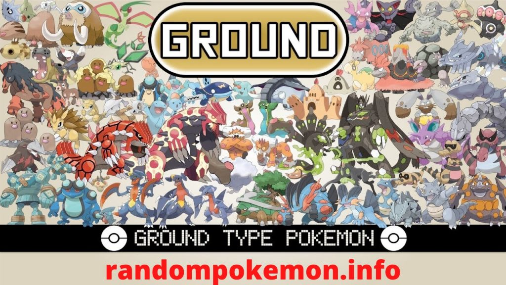 Ground type pokemon