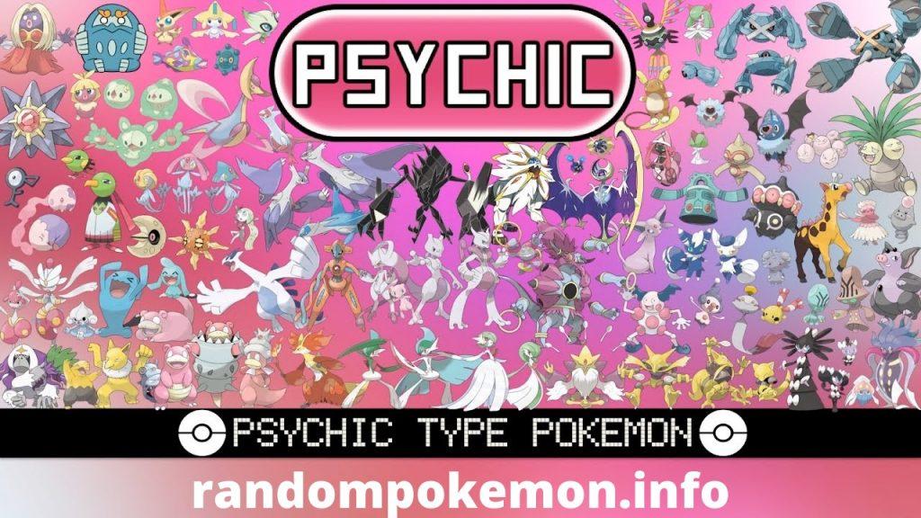 Phychic type pokemon